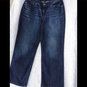 Chico's 1.5 Platinum Crop Denim Jeans